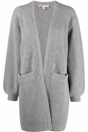 Michael Michael Kors Women Cardigans - Open-front ribbed knit cardigan - Grey