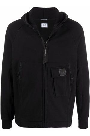 C.P. Company Men Hoodies - Logo-patch zip-up hoodie
