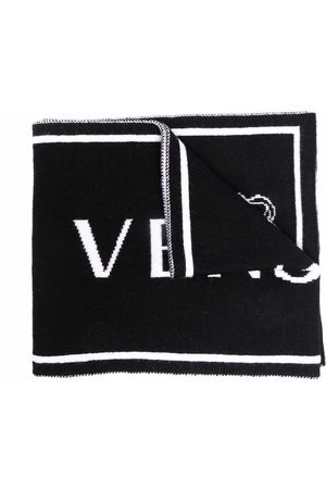 VERSACE Boys Scarves - Medusa intarsia-knit scarf