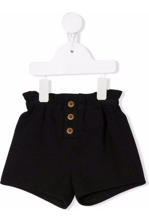 VERSACE Button-detail cotton shorts