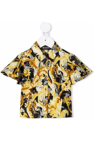 VERSACE Baroque-pattern print shirt