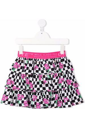 Off-White Kids Girls Skirts - Chessboard ruffled skirt