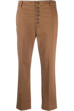 Dondup Women Chinos - Button-up cropped chinos