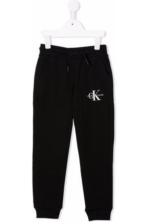 Calvin Klein Boys Sweatpants - Logo-print cotton track pants