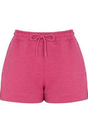 Ganni Women Shorts - Isoli fuchsia jersey shorts