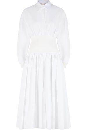 Alexander McQueen Women Casual Dresses - Cotton-poplin shirt dress