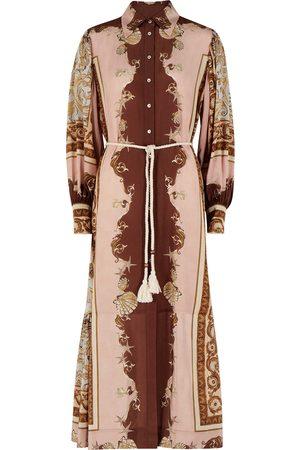 ALÉMAIS Ursula printed silk shirt dress