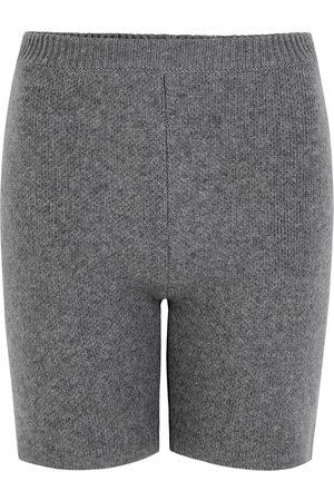 MAGDA BUTRYM Grey mélange knitted wool shorts