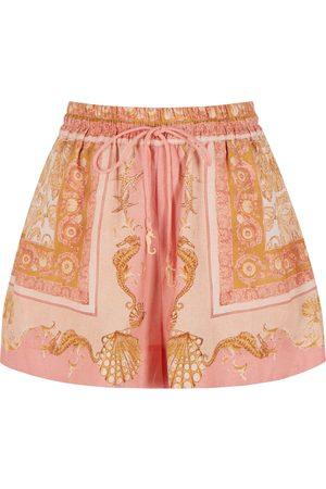 ALÉMAIS Women Shorts - Ursula printed linen shorts