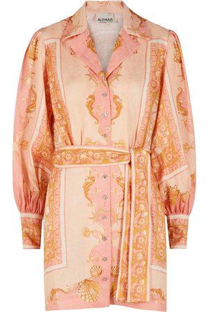 ALÉMAIS Ursula printed linen shirt dress