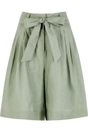 ALÉMAIS Ivy sage linen shorts