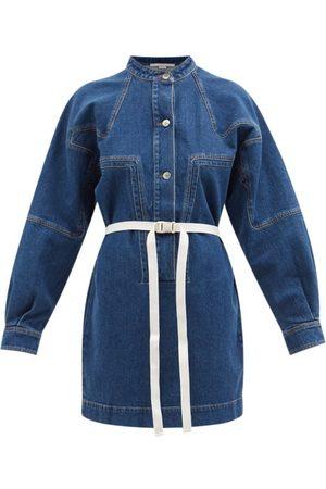 Stella McCartney Belted Denim Mini Dress - Womens - Denim