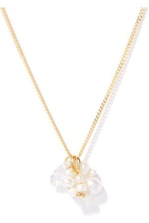 COMPLETEDWORKS Pearl, Topaz & 14kt -vermeil Pendant Necklace - Womens - Multi