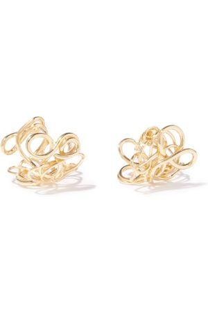 COMPLETEDWORKS Women Earrings - Twisted 14kt -plated Sterling-silver Earrings - Womens