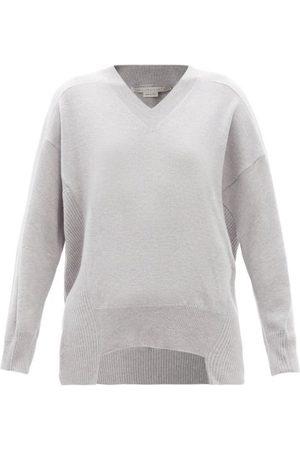 Stella McCartney V-neck Wool Sweater - Womens - Grey