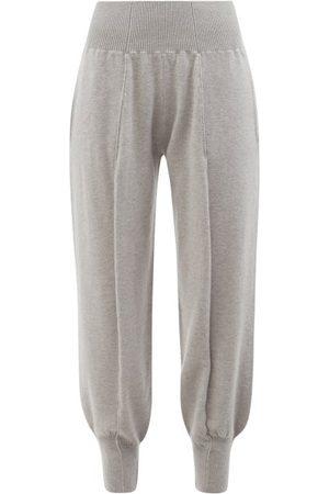 Stella McCartney Women Sweatpants - Tapered-cuff Wool Track Pants - Womens - Grey