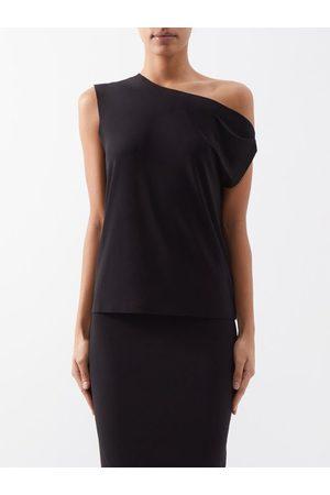 Norma Kamali Women Strapless Tops - Off-the-shoulder Jersey T-shirt - Womens