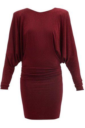 ALEXANDRE VAUTHIER Padded-shoulder Lamé Mini Dress - Womens