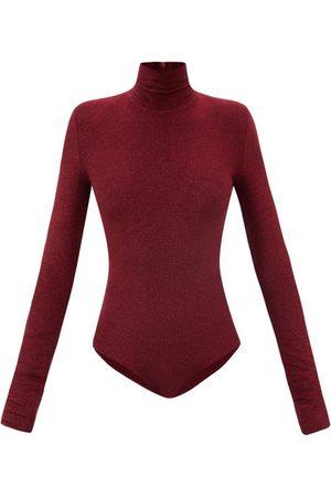 ALEXANDRE VAUTHIER Women Bodies - Padded-shoulder Lamé-jersey Bodysuit - Womens