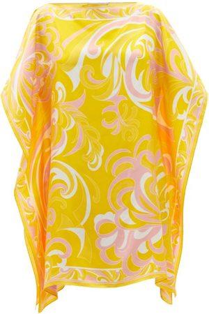 Emilio Pucci Albizia-print Silk Mini Kaftan Dress - Womens