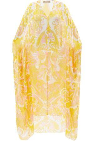 Emilio Pucci Women Beach Dresses - Vortici-print Silk-chiffon Kaftan - Womens