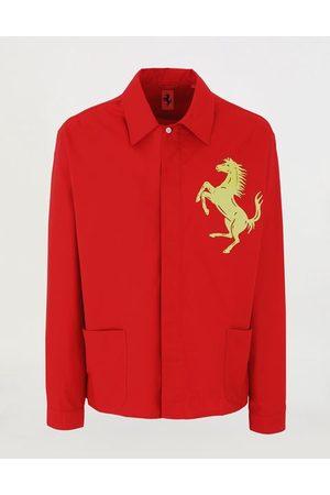 FERRARI Men Long sleeves - Organic cotton Prancing Horse caban shirt