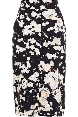 Moschino Woman Floral-print Stretch-cady Pencil Skirt Size 38