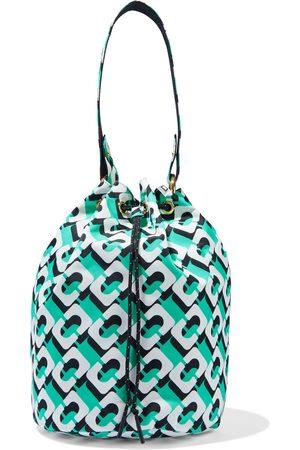DIANE VON FURSTENBERG Women Shoulder Bags - Woman Stassi Reversible Printed Shell Bucket Bag Jade Size