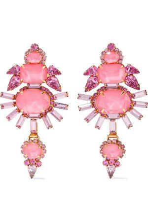 ELIZABETH COLE Women Earrings - Woman Henning 24-karat Gold-plated Crystal Earrings Size