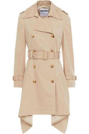 MOSCHINO Woman Belted Cotton-blend Gabardine Trench Coat Size 40