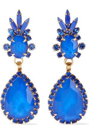 ELIZABETH COLE Woman Elina 24-karat Gold-plated Swarovski Crystal And Stone Earrings Bright Size