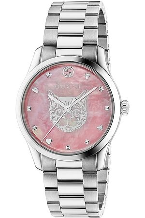Gucci G-Timeless Iconic 38mm Watch in Metallic Silver