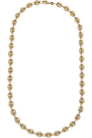 LOREN STEWART Puff Link Chain Necklace in Metallic
