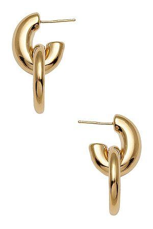 LOREN STEWART Door Knocker Hoop Earrings in Metallic