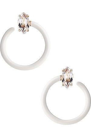 BEA BONGIASCA Tendril Crystal Earrings in