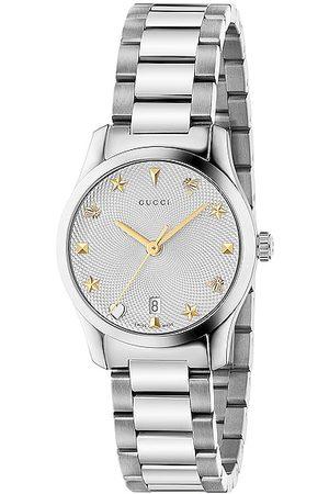 Gucci Women Watches - G-Timeless 27mm Watch in Metallic Silver