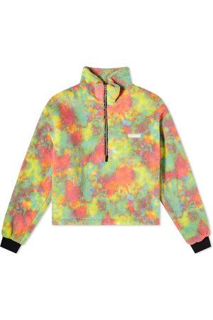 XOXOGOODBOY Bleached Half Zip Up Fleece Jacket