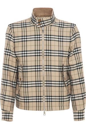 BURBERRY Reversible Check Wool & Cotton Jacket