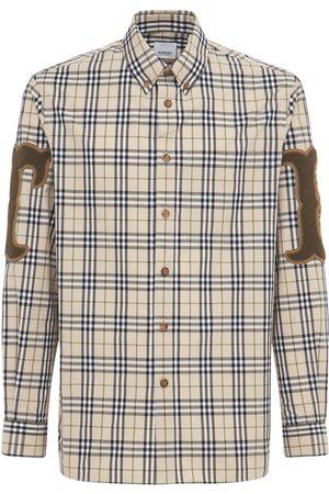 BURBERRY Taynton Badges Check Poplin Shirt