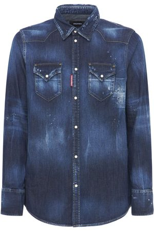 DSQUARED2 Cotton Denim Western Shirt