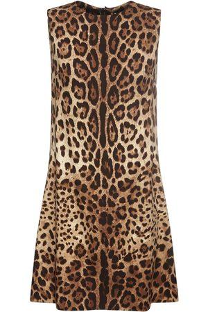 Dolce & Gabbana Women Printed Dresses - Leopard Print Silk Mini Dress