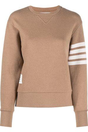Thom Browne Long-sleeve 4-Bar stripe sweatshirt - Neutrals