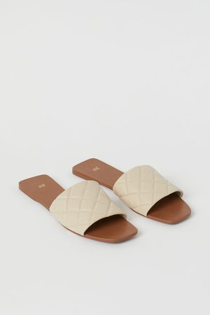 H&M Quilted Slides