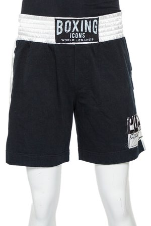 Dolce & Gabbana Boxing Icons Patched Contrast Waist Detail Shorts XL