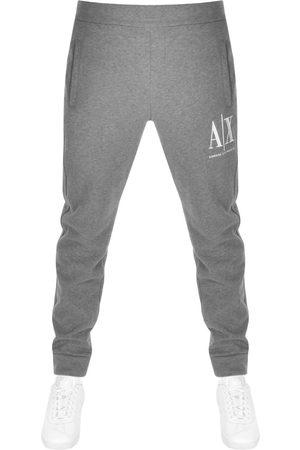 Armani Exchange Logo Jogging Bottoms Grey
