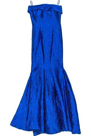 CH Carolina Herrera Royal Crinkled Jacquard Strapless Gown S