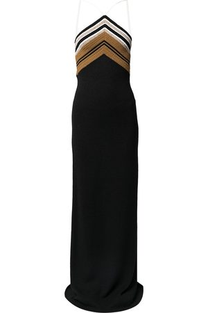 Proenza Schouler Stripe-detail halterneck dress