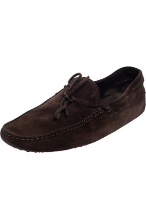 Tod's Suede Bow Slip On Loafers Size 45
