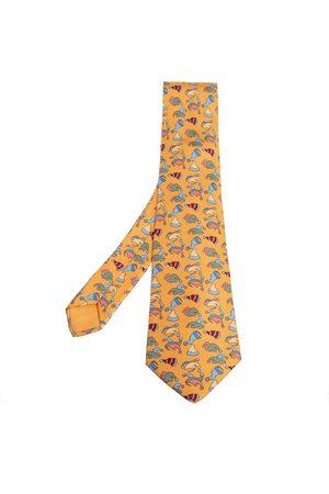 Hermès Jester Hat Print Silk Tie