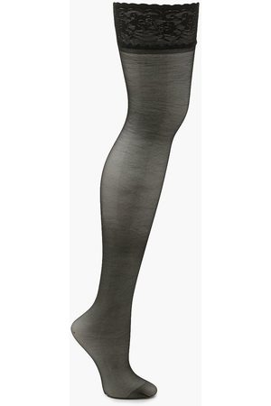 Boohoo Womens Lace Top Stockings - - One Size